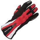 Spada Core WP Mens Leather Waterproof Motorbike Motorcycle Gloves Black Red
