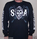 SOA Sons of Anarchy MC Chapters List Long-Sleeved T-shirt ( NEW ) SOA80