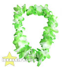 GREEN HAWAIIAN LEI FLOWER NECKLACE FANCY DRESS HAWAII TROPICAL LUAU PARTY