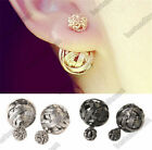 Fashion Women Double Sides Two Ball Ear Stud Earrings Jewelry SP00017-SP00020