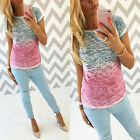 Fashion Women Casual Loose Cotton Blouse Short Sleeve Tee T-shirt Summer Tops A