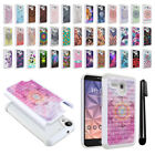 For Alcatel Onetouch Fierce XL 5054 Flint Studded Bling HYBRID Case Cover + Pen