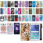 For Samsung Galaxy J5 J500 PATTERN HARD Back Case Phone Cover + Pen
