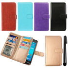 For Asus ZenFone 2E Leather Flip Magnetic Card Holder Wallet Cover Case + Pen
