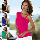 Women Summer Tops Sexy Off Shoulder T-Shirt Sleeveless Casual Strap Blouse New