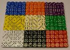 100 x Dice 14mm Dice Board Games Educational Resources RPG NEW