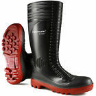 Dunlop Acifort Ribbed Full Safety Welly Steel Toe Cap Midsole Wellington Boots