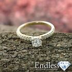Diamond Engagement Ring 14K Yellow Gold Natural 1.39 TCW SI D-F Size 7 Enhanced