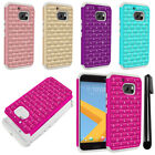 For HTC 10 One M10 Luxury Shockproof HYBRID Bling Crystal Case Phone Cover + Pen