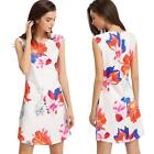 Sexy Women Mini Dress Bodycon Floral Print Dress Party Clubwear Cocktail P4Q5
