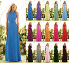 Maxi Halter party bridesmaid pageant communion ballgown evening ball dress gown