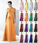 Clearance Long Orange large bow tie lace up back evening party prom maxi dress