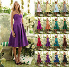 UK4 14YRS Short Cadbury purple girl evening prom party cocktail bridesmaid dress