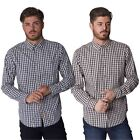 Slazenger Mens Gingham Check Long Sleeve Button Down Collared Cotton Shirt Top