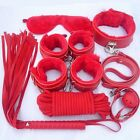 Unisex - Hotsale 7pcsset Adult Sex SM Toys Handcuffs Cuffs Strap Whip Rope Neck Bandage