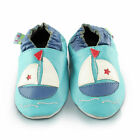 Boat Soft Leather Baby Shoes | Toddler Slippers Boys | Sizes 0 - 3 Years