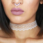 1pc Handmade Woman Vintage Lace Choker Necklace Collar Chain Necklace Jewellery