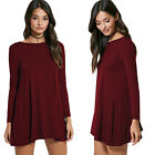 2016 Womens Sexy Autumn Bodycon Evening Cocktail Party Long Sleeve Mini Dress