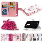 Magnetic Pattern Flip PU Leather Cover Case Wallet 9 Cards Slots Stand For LG