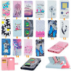 Pattern Flip PU Leather Case Cover Stand Card Slot Wallet For Samsung Galaxy LG