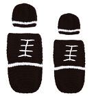 Kids Baby Unisex Rugby Suit Sleeping Bag Crochet Knit Costume Photography Prop