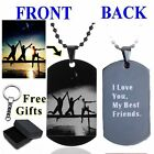 Friends Personalized Photo Letter Name DogTag Pendant Necklace Custom Engraved