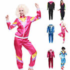1980s Retro Mens Ladies Scouser Shell Suit Tracksuit Costume Fancy Dress