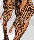Sexy Lingerie Babydoll Chemise Seamless Sleeve Bodysuit BODYSTOCKING Open Crotch