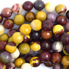 """Faceted Mookaite Round Beads Gemstone 15.5"""" Strand 4mm 6mm 8mm 10mm 12mm"""