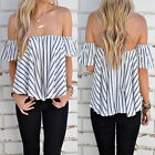 Fashion Women Summer Vest Top Off Shoulder Shirt Blouse Casual Tank Tops T-Shirt