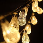 20LED Metal Drip String Fairy Lights Garden Yard Wedding Party Xmas Lamp 2.5m