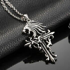 AgentX 5 Types Men's Stainless Steel Vintage Design Cross Pendant Necklace Chain