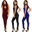 Women Jumpsuit Bodycon Romper Casual Sleeveless Clubwear Trousers Playsuit O7B4