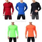 Mens Slim Fit Compression Under Base Layer Sports Wear Tops T-Shirts Tights M-XL