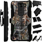For LG / HTC Rugged Cover Holster Hybrid Case CAMO CAMOUFLAGE TREES LuxGuard