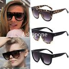 Fashion Womens Ladies Oversized Flat Top Celebrity Designer Sunglasses Vintage