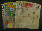 CRAFTS 'N THINGS MAGAZINES, 9 DIFFERENT ISSUES, LOTS OF CRAFTY IDEAS!