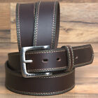 32-46* JOHN DEERE MENS BROWN LEATHER CASUAL JEAN BELT 1-1/2* CHOCOLATE BROWN