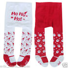 BABY GIRLS MY 1ST XMAS TIGHTS SANTA HO HO HO 0-6-12 MONTHS RED WHITE SHOE FEET