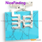 Necklace Pendant Square Beads Siver Plated Fashion Women Jewelry Mother Day Gift