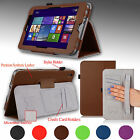 "e-Planet for Acer Iconia W4-820 8.0"" Stand Cover PU Leather Case w/ Hand Strap"