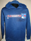 NHL New York Rangers Hockey Dri Fit Hooded Sweatshirt Hoody Sweater Majestic $31.49 USD on eBay