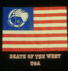 "Death In June ""Death of The West"" 2013 USA Tour Shirt (L XL XXL) Flag Glove Whip"