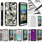 For HTC Desire 510 Case Hard Snap On 2 Piece Slim Shell Swamp Camouflage
