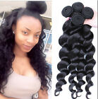 6A 4 Bundles Brazilian Human Hair Weave Virgin Loose Wave Hair Extension Weft