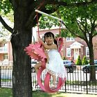 Shmoopie Tire Swing Unicorn Theme outdoor Garden Kids Rider Play Ground Toy