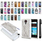 For ZTE N817 Quest Uhura Anti Shock Studded Bling HYBRID Case Phone Cover + Pen