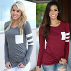 Fashion Women Ladies Casual Loose Tops Long Sleeve T-shirt Summer Blouse New UK