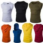 Fashion Mens Sleeveless Vest T-shirt Hooded Stylish Tees Casual Tops Hot