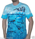 Liquid Blue Men's Penguins Frolicking In The Ocean T-shirt  (GEN4)